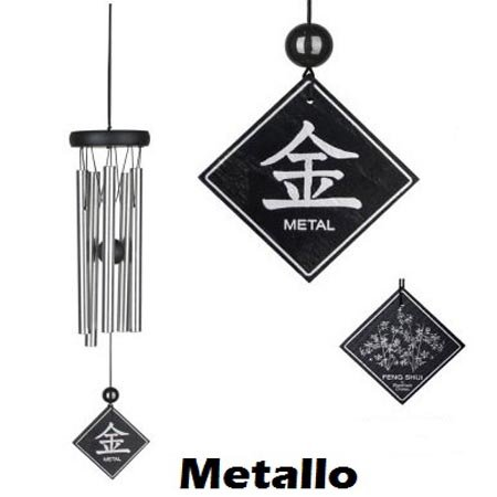 wind chime elemento metallo 40 cm (WOODSTOCK CHIMES ORIGINALE)